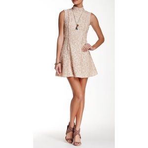 Free people Queen Lace turtleneck dress 4 NWT